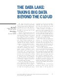 The Data Lake: Taking Big Data Beyond the Cloud]
