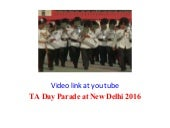 Territorial Army day is celebrated in India on 9th October