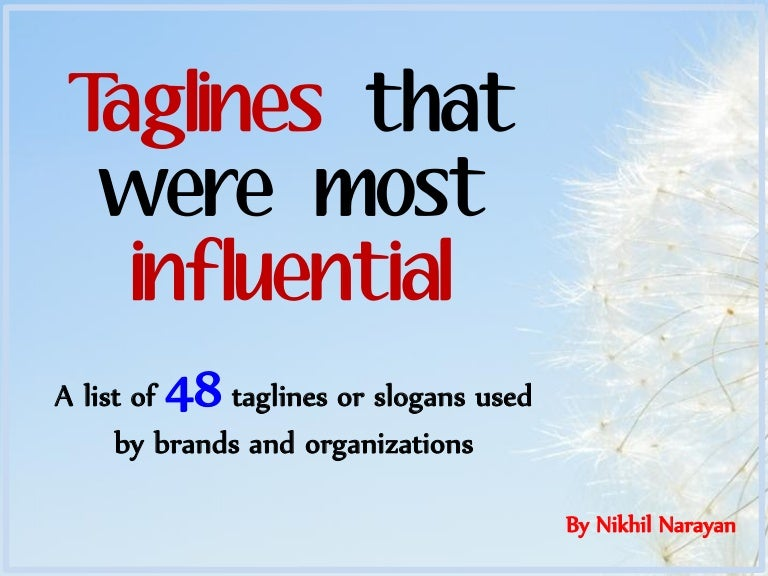 Taglines That Were Most Influential