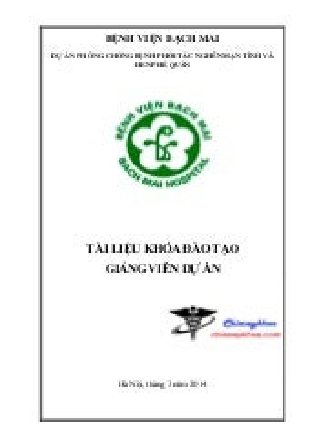 Tai lieu tap huan: Dự án phòng chống bệnh phổi tắc nghẽn mạn tính và hen phế quản
