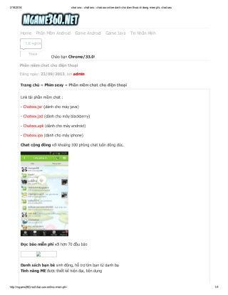Tai phan mem chat sex online