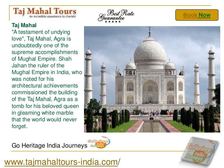 Taj Mahal Tour Powerpoint