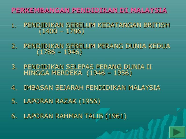 Tajuk 1 Sistem Pendidikan Di Malaysia