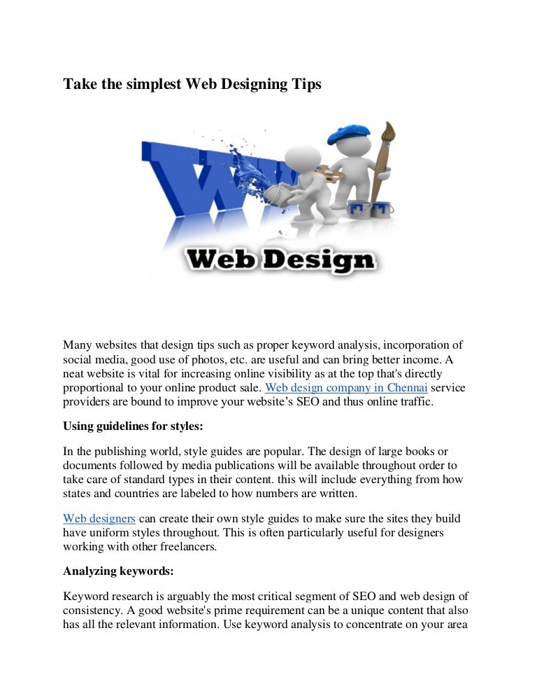 Take The Simplest Web Designing Tips