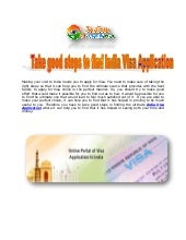 Take good steps to find india visa application