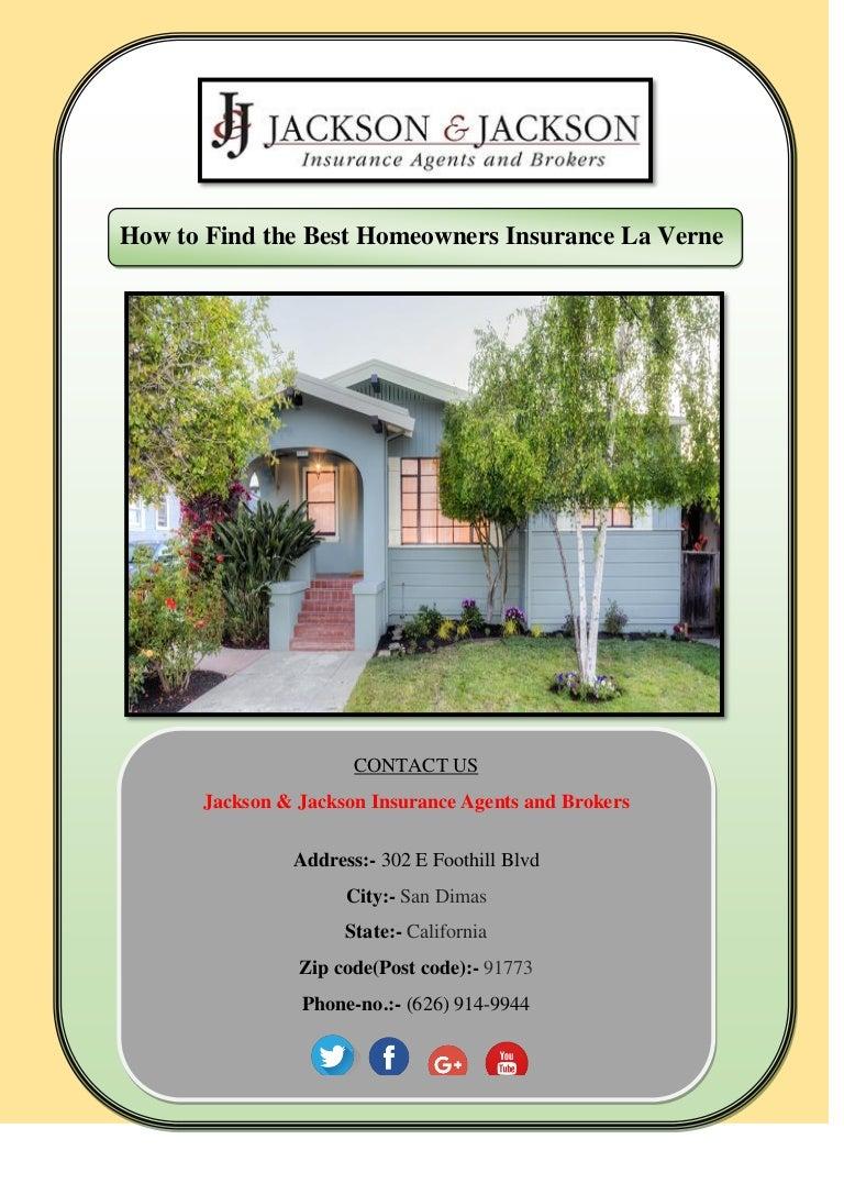 Take The Best Homeowners Insurance La Verne - Usa zip code jackson