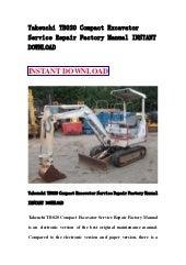 Takeuchi tb015 pact excavator    service       repair       factory