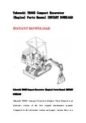 Takeuchi tb015 compact excavator parts manual download
