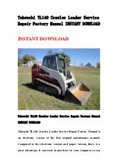Takeuchi tl140 crawler loader parts manual download sn 21400011 and cheapraybanclubmaster Images