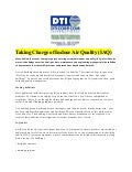 Taking Charge of Indoor Air Quality (IAQ)