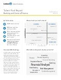 South East Asia Banking and General Finance | Talent Pool Report