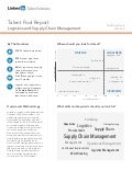 South East Asia Logistics and Supply Chain Management | Talent Pool Report