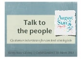 Talk to the People: Customer Interviews for Content Strategists