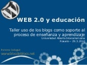 WEB 2.0 y educación - Taller de Blogs
