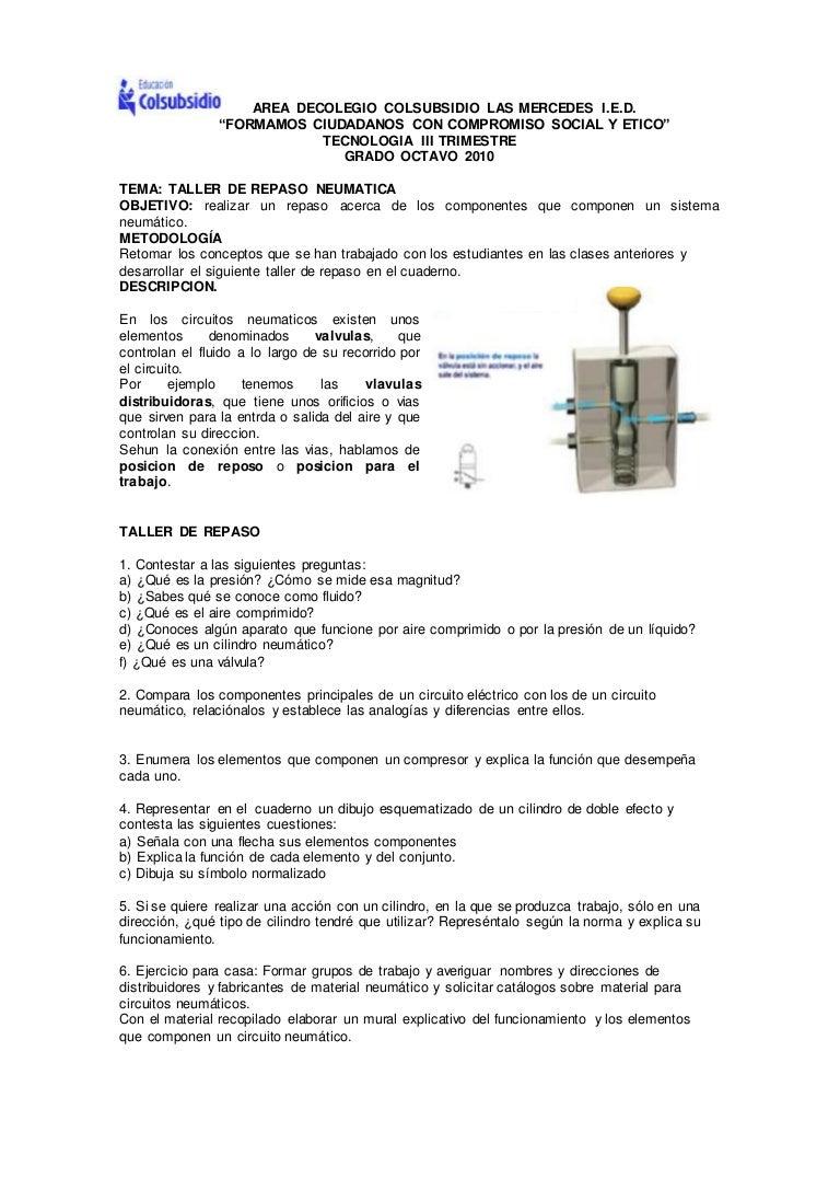 Circuito Neumatico Basico : Taller de neumatica