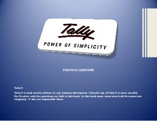 Tally assingment book