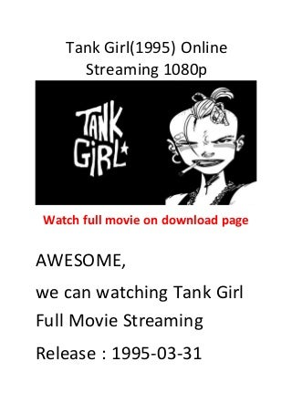 Tank girl(1995) comedy action film