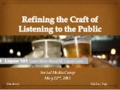 BC Liquor: Refining the Craft of Listening - Tanya Twynstra and John Yap