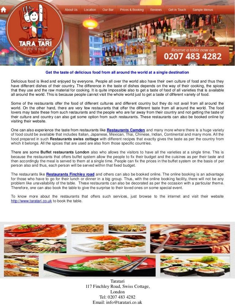 Tara tari buffet restaurant near swiss cottage forumfinder Choice Image