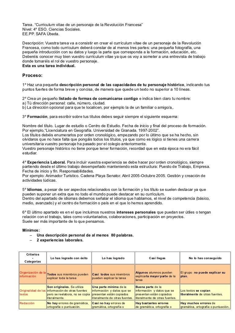 Tarea t2, CV de un personaje histórico del s.XIX español