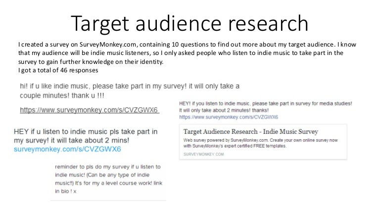 Audience analysis for research paper