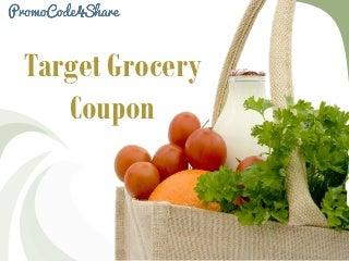 Target Promo Code: Target Grocery Coupon