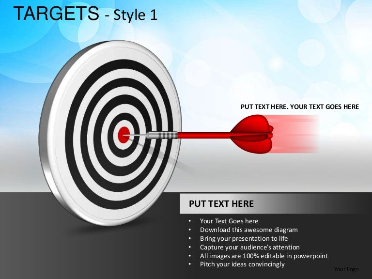 Arrows Bulls Eye Targets Style 1 Powerpoint Presentation Templates