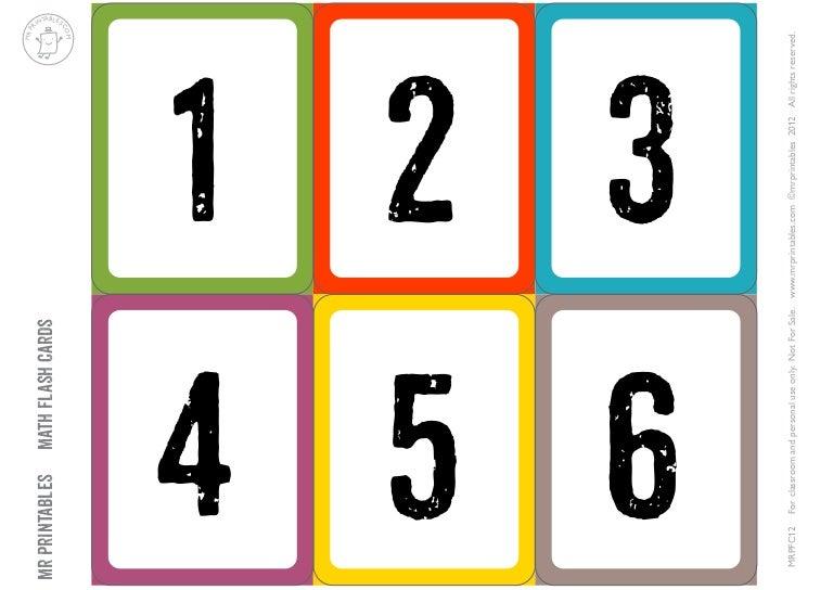 Tarjetas Numeros-1-30