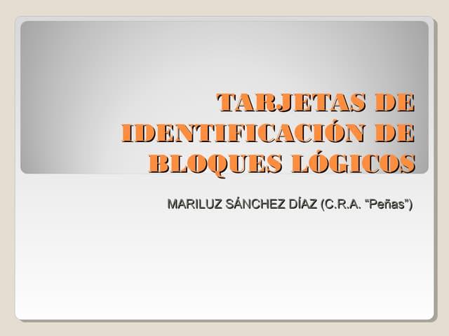 Tarjetas de identificación de bloques lógicos