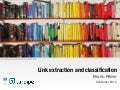 Link extraction and classification