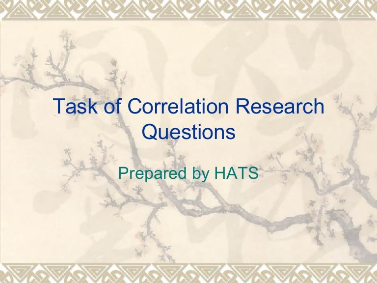 Correlation research dissertation