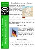 Germany - Doing Business Abroad - 3784