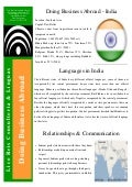 Doing Business Abroad - India