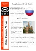 Doing Business Abroad - Russia
