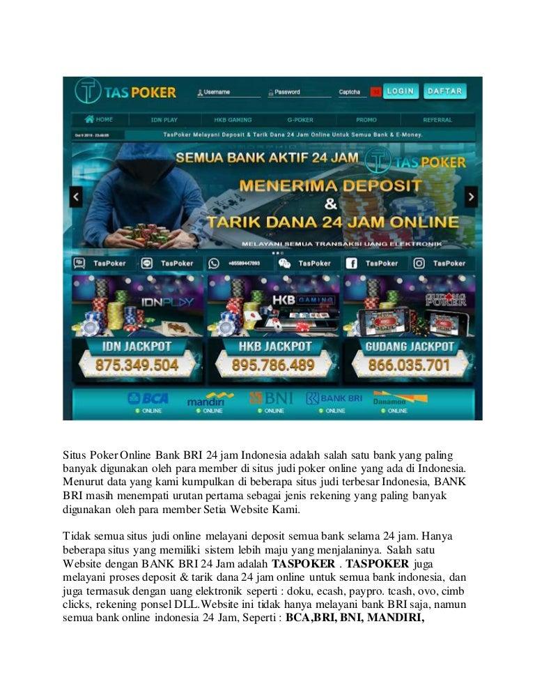 Taspoker Situs Poker Online Bank Bri 24 Jam