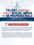 Talent Acquisition through Social Media for HR Professionals