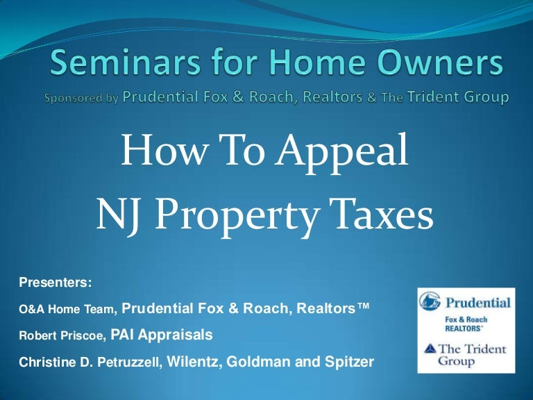 How to Appeal NJ Property Taxes