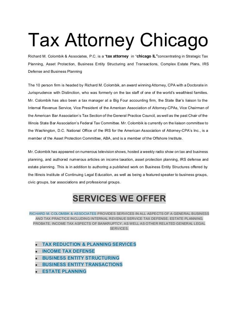 Gay tax attorney chicago