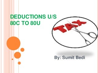 Tax deductions u/s 80c to 80u