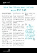 What Tax Officers Need to Know about ASC 740 - Joseph F. Leary, Gentek, Inc.