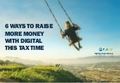 Webinar: 6 ways to raise more money with digital this tax time