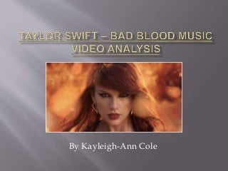 Taylor swift - Bad Blood music video analysis