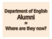 Taylor University English Department Alumni