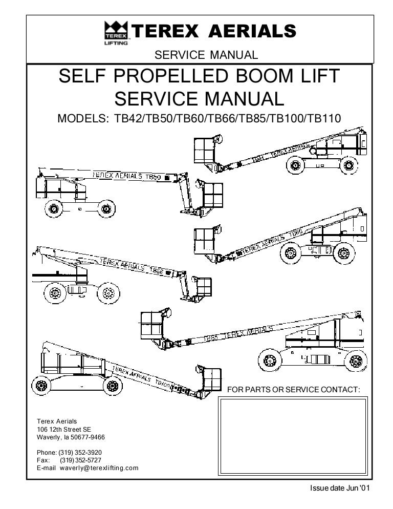 tbboomliftservicemanual 140502194305 phpapp01 thumbnail 4?cb=1399059830 tb boom lift service manual terex tb60 wiring diagram at honlapkeszites.co