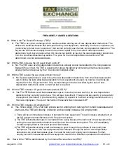 Tax Benefit Exchange Frequently Asked Questions