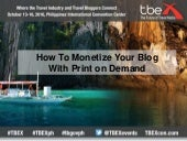 TBEX Asia 2016, How to Monitize Your Blog Print on Demand, Pete and Betsy Wuebaker