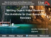 TBEX Asia 2016, Writing Expert Hotel Reviews, Jennifer Dombrowski