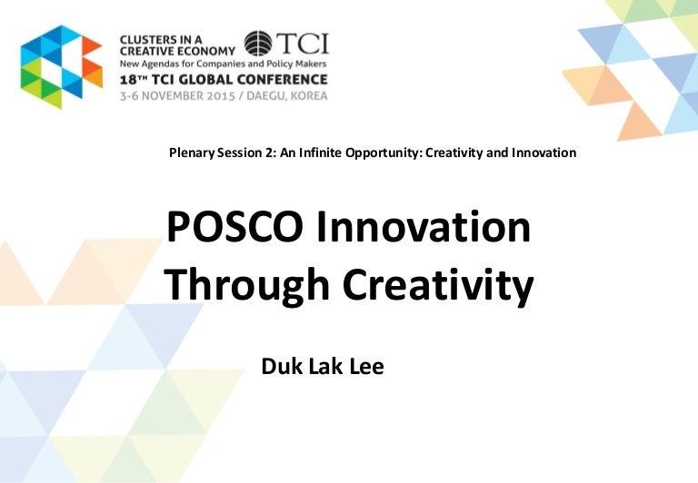 TCI 2015 POSCO Innovation Through Creativity