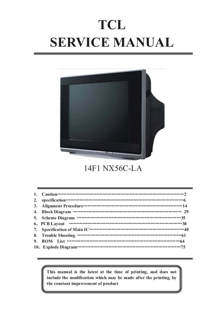 Tcl Nx56c La Chassis 14f1 Tda11145ps N3 3 Tyea1533p Stv9302b Tv Sm Available Part Diagrams 75 In Body Hardware