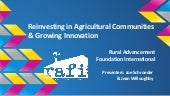 Reinvesting in Agricultural Communities & Growing Innovation